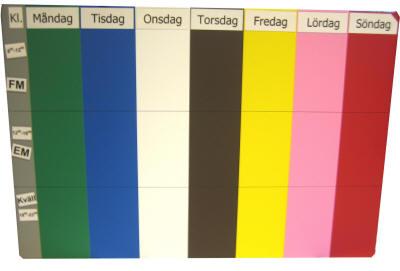veckodagar i färg